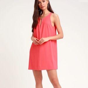 Lulus Coral Shift Dress